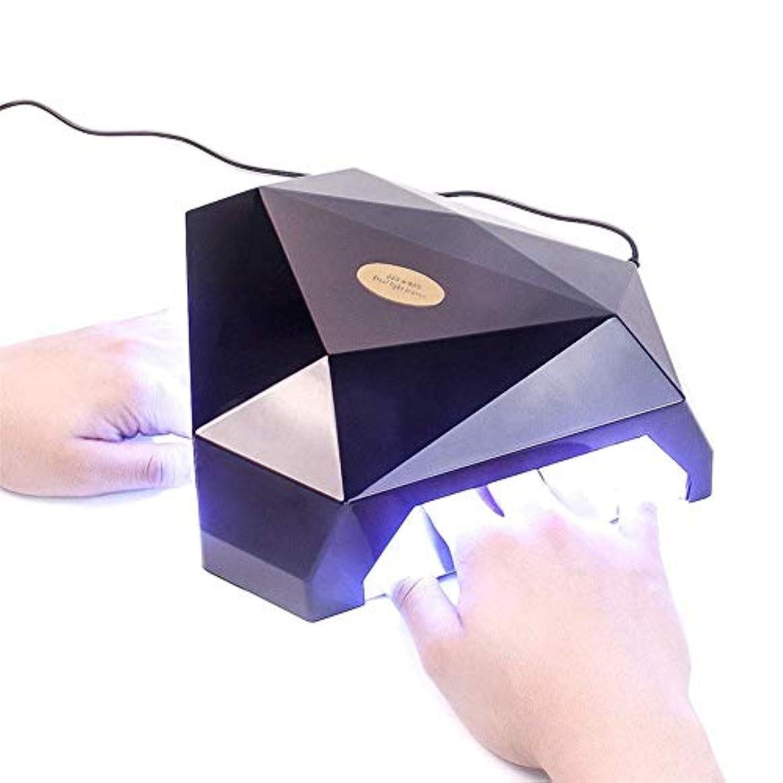 目の前の始めるビタミン60ワット2手led uvランプネイルドライヤージェルネイルランプ用ネイルジェルポーランド硬化機ネイルアートマニキュアツールギフト、黒,ブラック