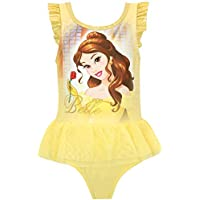 Disney Girls Beauty and The Beast Swimsuit Yellow Size 7