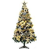 クリスマスツリーセット 北欧 150cm 120cmオーナメントセット おしゃれ 可愛い 贅沢 高級クリスマスツリー 組立簡単 置物 クリスマス飾り ツリー 赤 ゴールド (150cm, ゴールド)