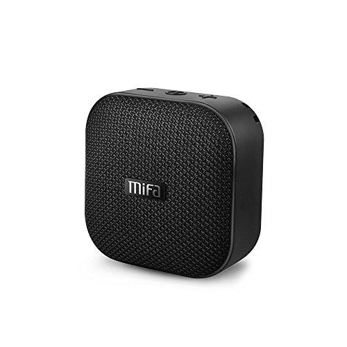 MIFA スピーカーポータブル ワイヤレス Bluetooth 4.2、防水、12時間連続再生、内蔵リチウムバッテリー1200mAh、内蔵マイク搭載、Micro SDカード機能つき【ブラック】
