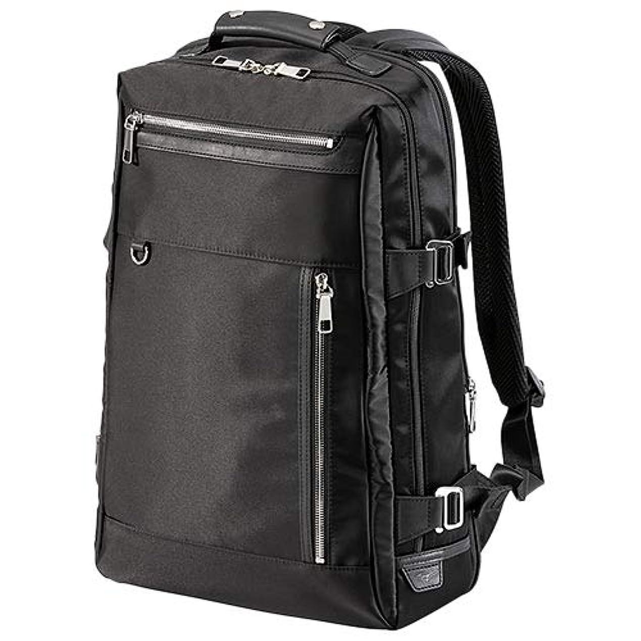 なす小売骨髄[ミズノ] グラブ革バックパック 拡張型 ブラック B3JM9011 09