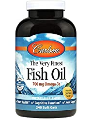 Carlson Labs - 最も良い魚オイルレモン味 1000 mg。1ソフトジェル