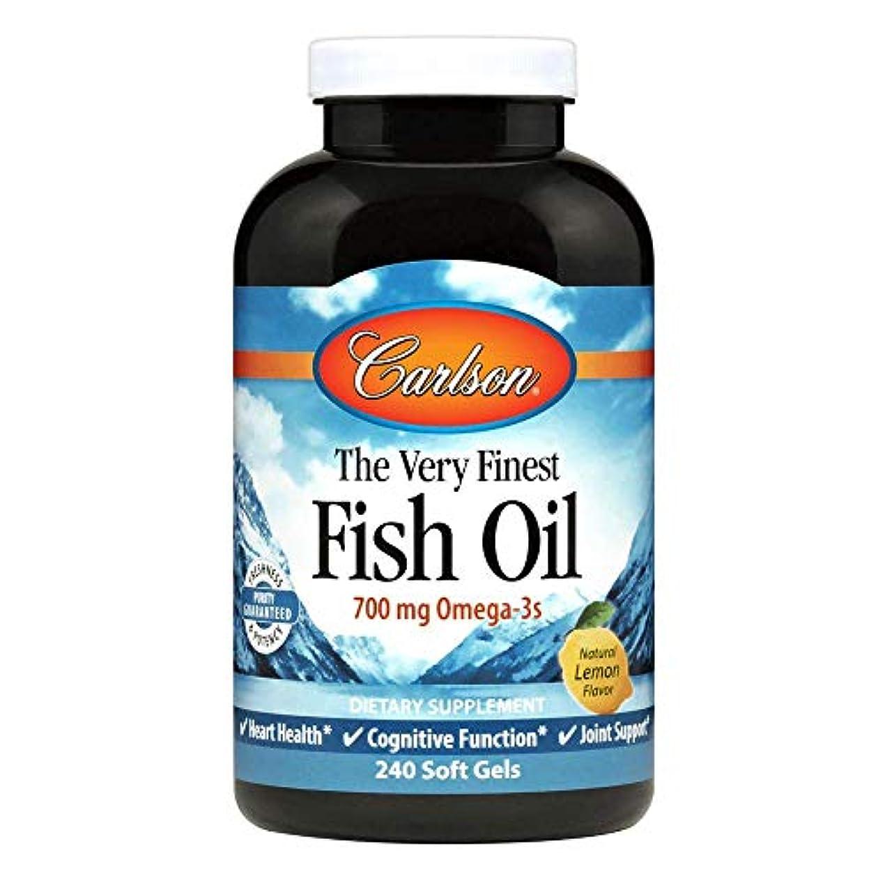 ブランド帰る等々Carlson Labs - 最も良い魚オイルレモン味 1000 mg。1ソフトジェル