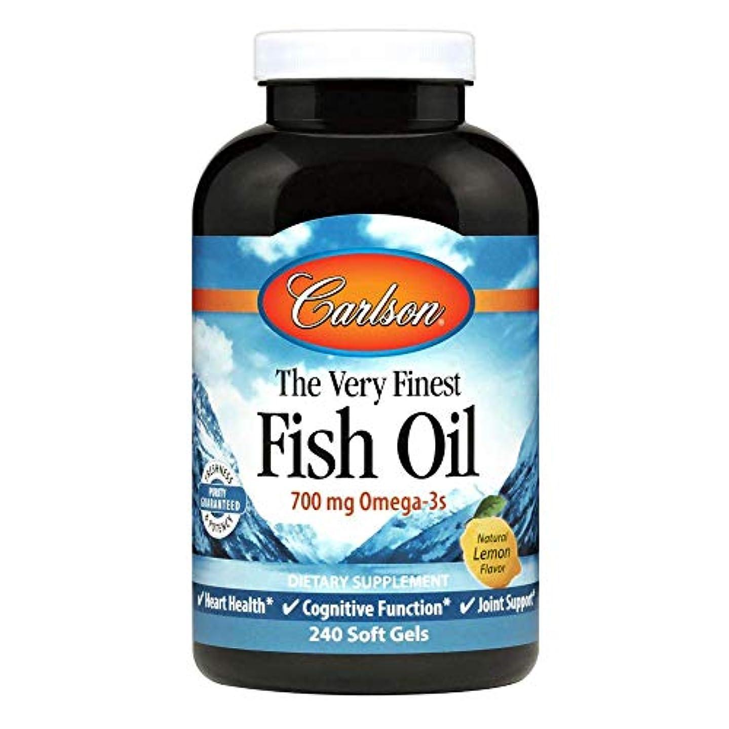 テンポ油神経衰弱Carlson Labs - 最も良い魚オイルレモン味 1000 mg。1ソフトジェル