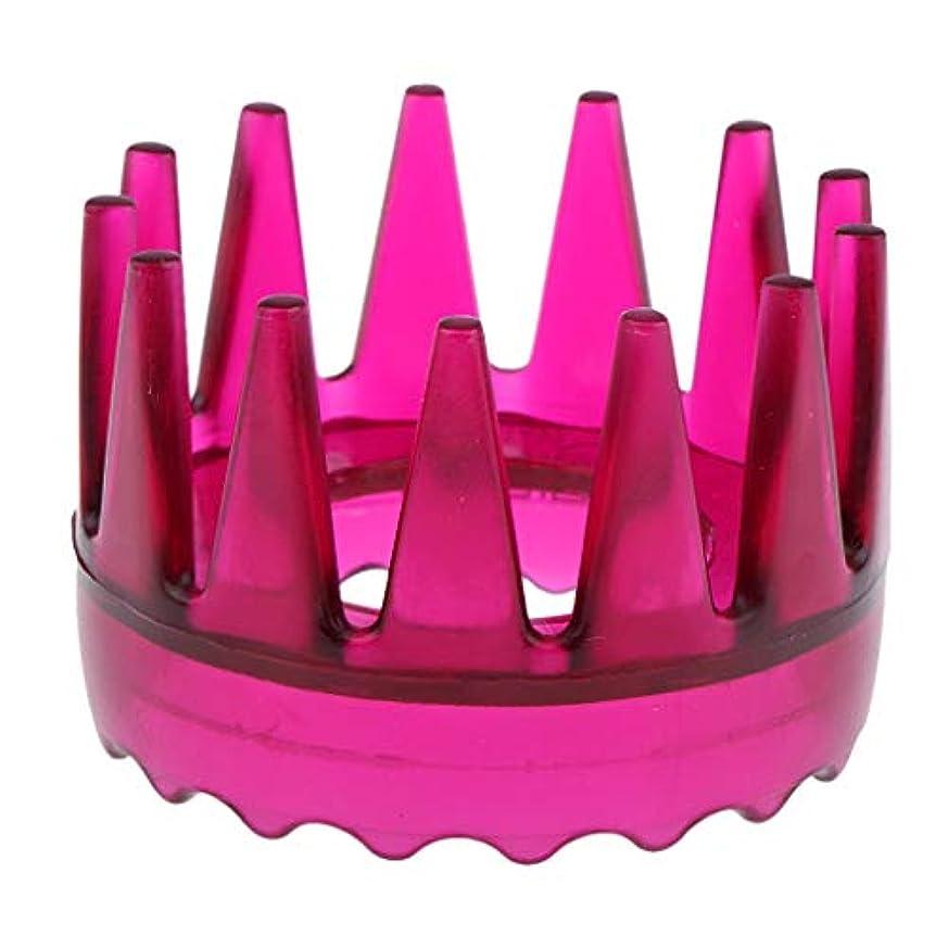 分数広々信じられないSharplace 頭皮マッサージ 櫛 シャワー シャンプー ヘアブラシ 4色選べ - ローズレッド