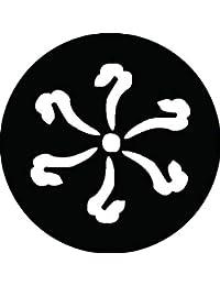 家紋シール 蕨手紋 布タイプ 直径40mm 6枚セット NS4-3110