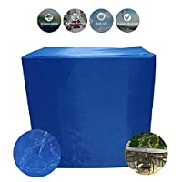 AWSAD カバーガーデン家具 オックスフォード布 防水 防水 アウトドア デッキチェア、 2色 28サイズ (Color : Blue, Size : 0.8x0.8x1.2m)