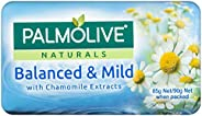 Palmolive Naturals Bar Soap Balanced and Mild Chamomile Extracts, 4 x 90g