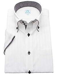 (ブルーム) BLOOM 2019 オリジナル 半袖 ワイシャツ クールビズ yシャツ S/M/L/LL/3L/4L/5L/6L 10柄 形態安定加工 ドゥエボットーニ ボタンダウン