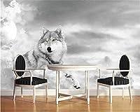 Weaeo カスタム壁紙の壁画の気分の人格のテレビの壁の壁オオカシの壁画の犬の装飾絵画の壁紙-280X200Cm