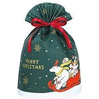 インディゴ クリスマス グリーティングバッグL サンタベア ダークグリーン XG548