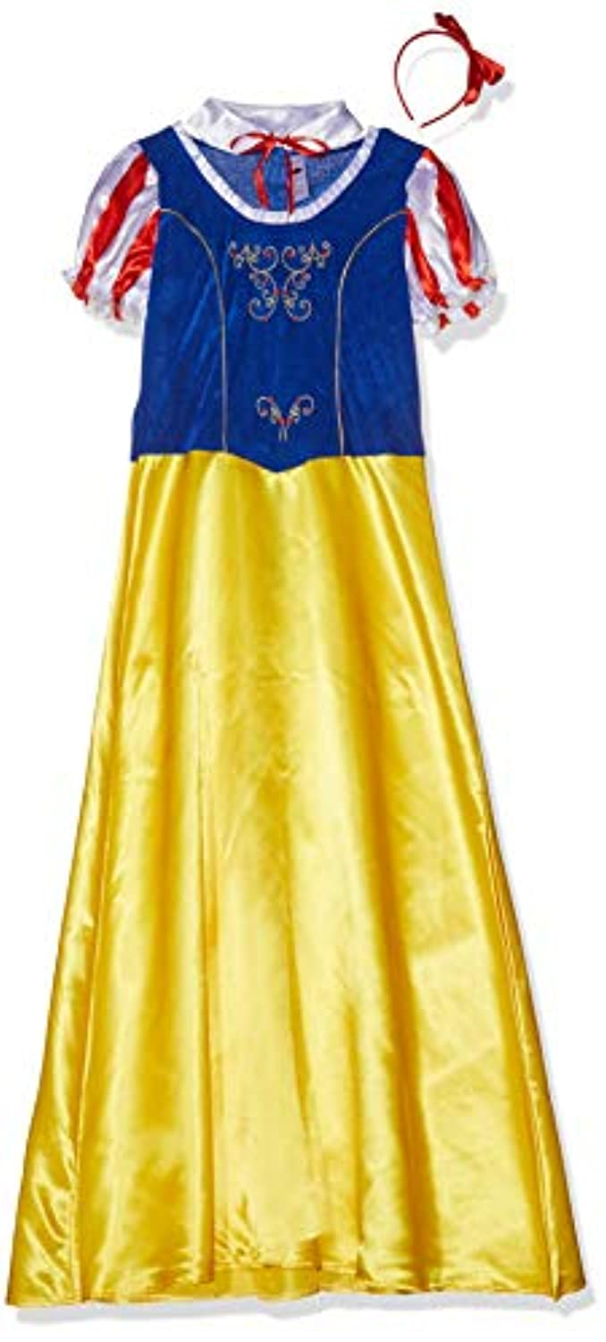 Smiffys Adult Women's Princess Snow Costume, Dress, Collar And Headband, Wings