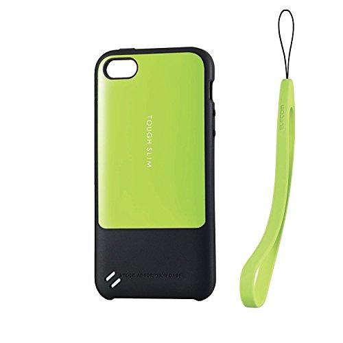 ELECOM iPhone SE/5/5S タフスリム ケース グリーン PM-A16STSGN