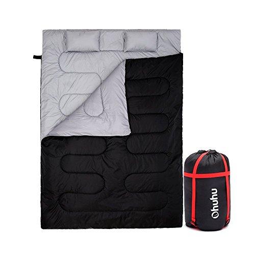 Ohuhu 寝袋 封筒型 2人用 枕付き