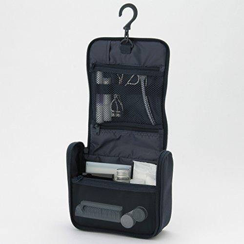 無印良品 ポリエステル吊して使える洗面用具ケース ネイビー・約16×19×6cm