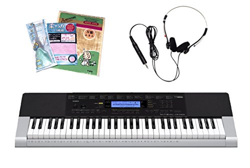 [세트]CASIO 베이직 키보드 CTK-4400 &헤드폰 HP-100 &손질3점 세트-CTK-4400