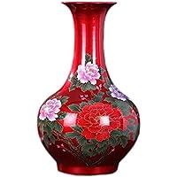 花器 セラミック花瓶クリスタルグラス花瓶現代フラワーアレンジメント磁器ボトル工芸家の装飾 UOMUN (色 : Style Two)