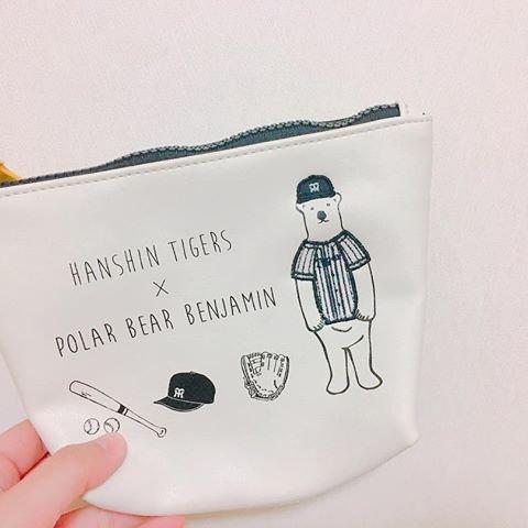 tigers×benjamin 舟形ポーチ