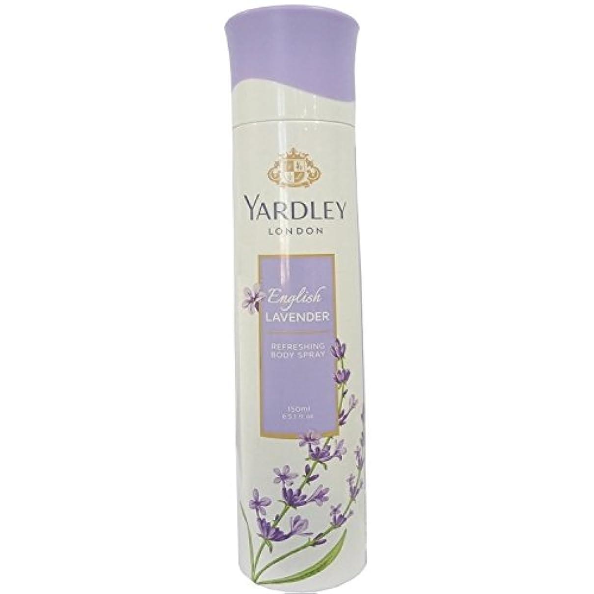 ネスト思いやりのある祭司Yardley London Refreshing Body Spray English Lavender 150ml