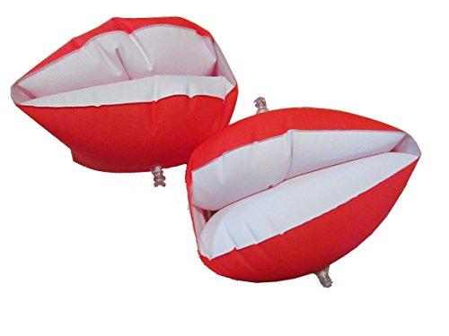 LLB SPORTS(エルエルビースポーツ) アーム浮き輪 赤 アームヘルパー 腕浮き輪 幼児学童向け補助浮き具(左右2個で2組) 23161