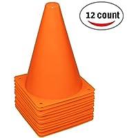 Reehut マーカーコーン 三角 プラスチック 12本&24本セット 4色