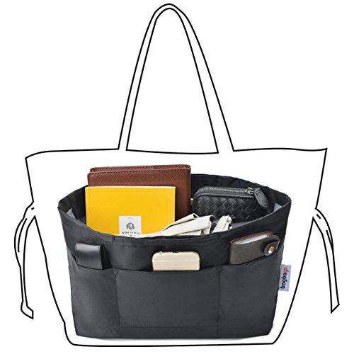 bag in bagバッグインバッグ インナーバッグ 収納バッグ 収納力抜群 4タイプ選択可能 色ブラックとカーキ (A-L型 黒)