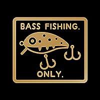 BASS FISHING ONLY カッティング ステッカー ゴールド 金