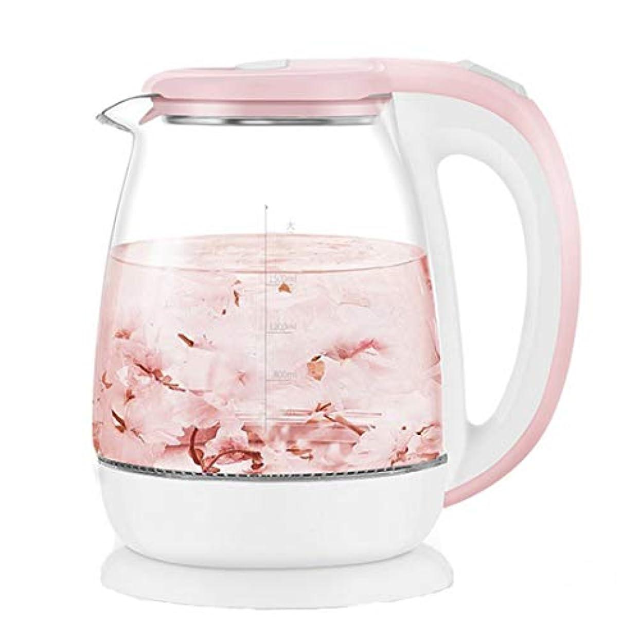 物理学者薬仕様1.8Lガラス自動電気湯沸かしポット1500W給湯器ホット沸騰ティーポットキッチンアプライアンス温度制御,ピンク