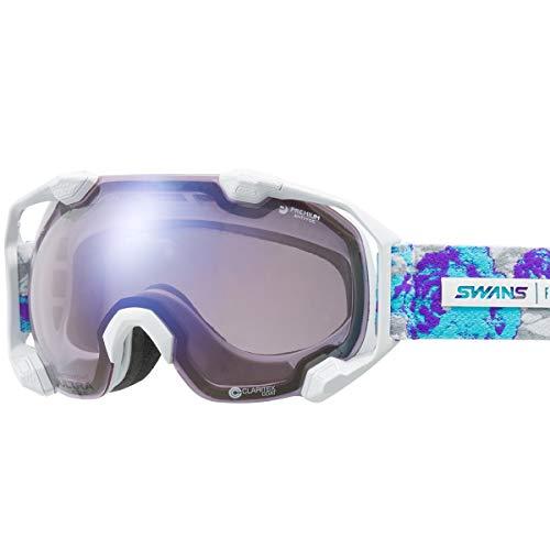 【国産ブランド】SWANS(スワンズ) スキー スノーボード ゴーグル 紫外線で色が変わる 調光ULTRAレンズ 撥水 くもり止め プレミアムアンチフォグ搭載 スキー スノーボード C2N-CU/MDH-SC-PAF W