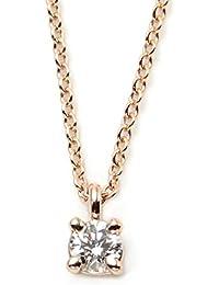 [ティファニー] TIFFANY ダイヤモンド0.12ct 18KRG ローズゴールド ソリティア ブリリアントカット ダイヤモンド ペンダント・ネックレス 【並行輸入品】 30420837