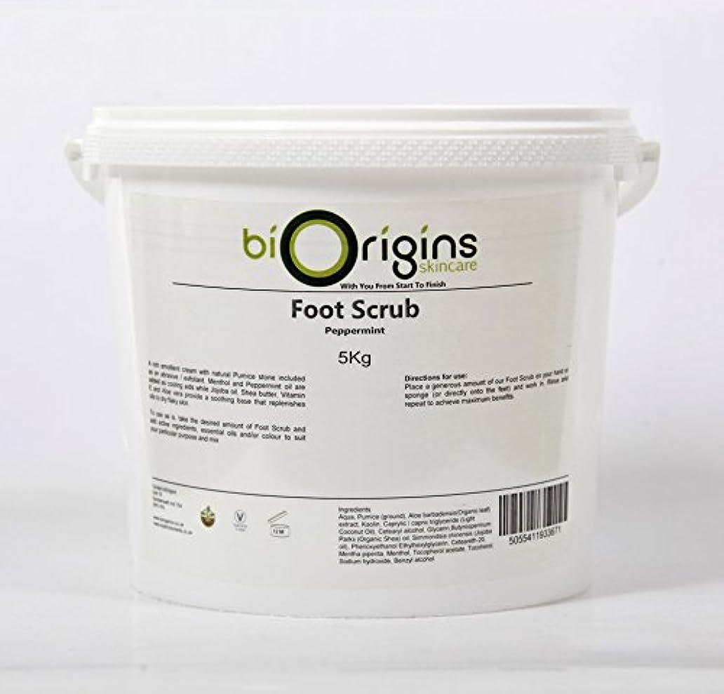 パレード発掘かけがえのないFoot Scrub Peppermint - Botanical Skincare Base - 5Kg