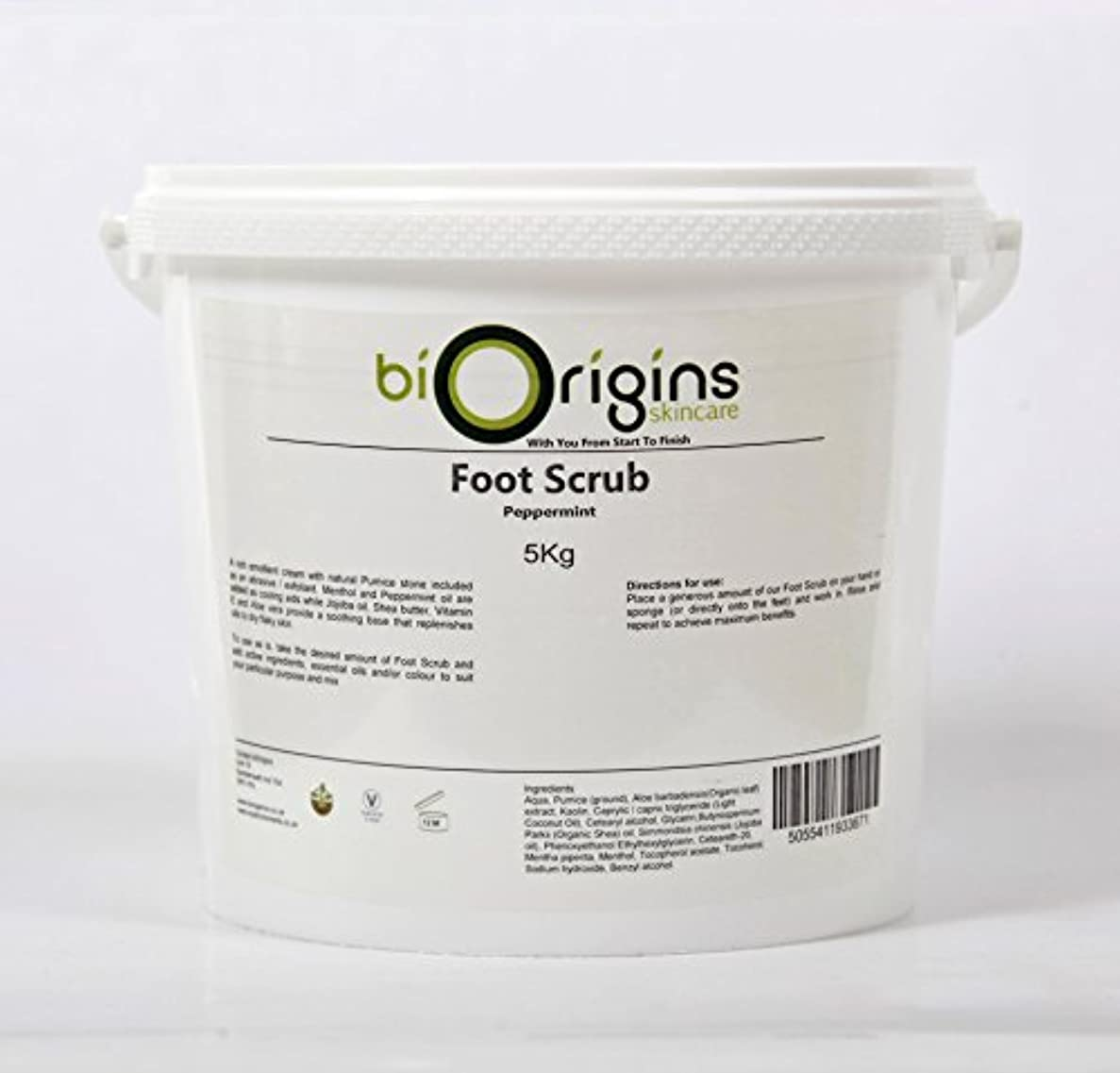 追うレジサンダースFoot Scrub Peppermint - Botanical Skincare Base - 5Kg
