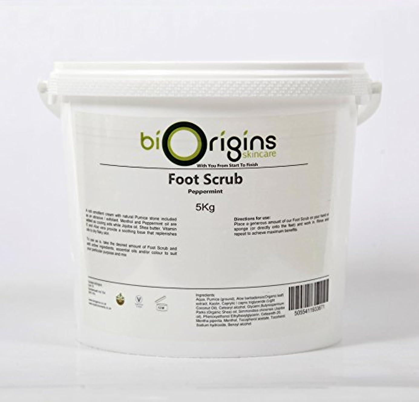 狂信者慎重バルコニーFoot Scrub Peppermint - Botanical Skincare Base - 5Kg