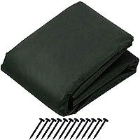 アストロ 防草シート 1×10m 固定ピン12本付 グリーン 不織布 厚手 高透水 UV耐候剤配合 高耐久 602-38