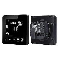 Biuuu WiFiプログラマブルサーモスタットエコーアレクサ音声制御電気床暖房室温度制御16A 100-240ボルト