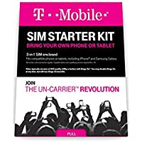 T-Mobile Prepaid Complete SIM Starter Kit - No Contract Network Connection (Universal: Standard, Mirco, Nano SIM) by T-Mobile