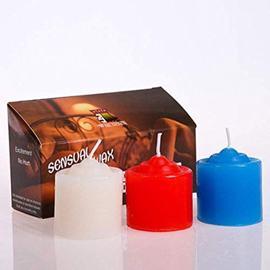 軸尾差別的三色蝋燭 低温 キャンドル