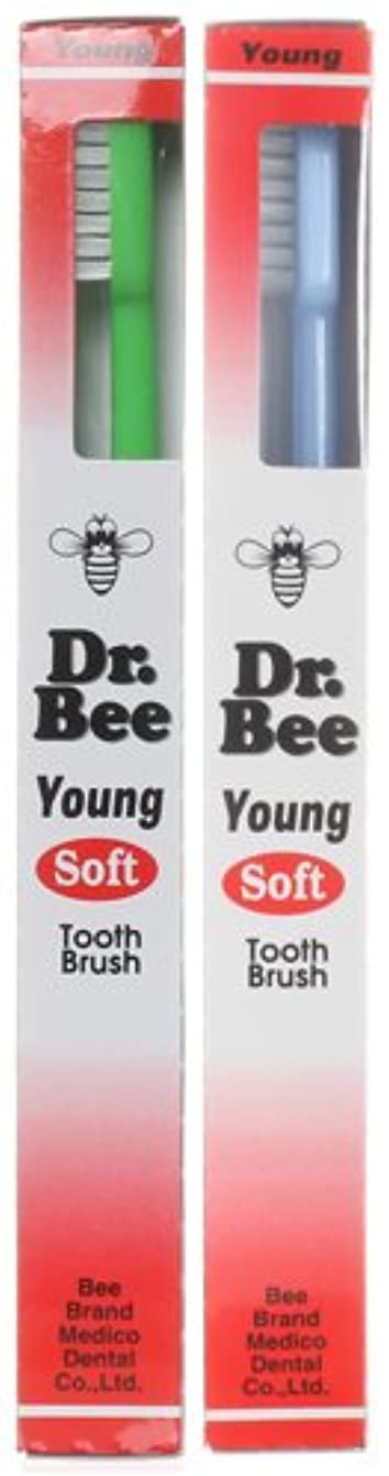 四平方故障中BeeBrand Dr.BEE 歯ブラシ ヤング やわらかめ 2本セット