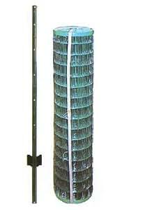 アニマルフェンス 1.0×20m フェンス(金網)と支柱11本のセット