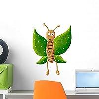 Cute Green Butterfly Wall Mural by Wallmonkeys Peel and Stick Graphic (18 in H x 15 in W) WM259404 [並行輸入品]