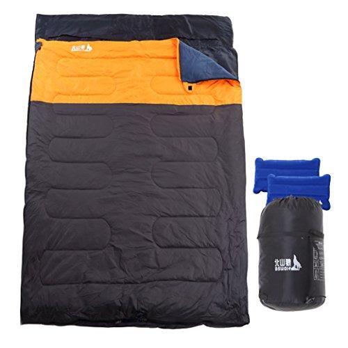 Ln ふんわり 2人用 寝袋 ダブルサイズ 耐寒温度-5度 ...