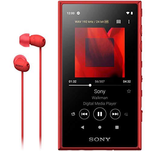 ソニー SONY ウォークマン 16GB Aシリーズ NW-A105HN : ハイレゾ対応 / bluetooth / android搭載 / microSD対応 タッチパネル搭載 最大26時間連続再生 レッド NW-A105HN R