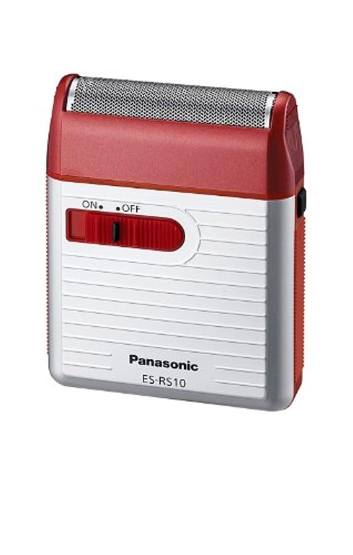 前者大混乱ホームパナソニック メンズシェーバー 1枚刃 赤 ES-RS10-R