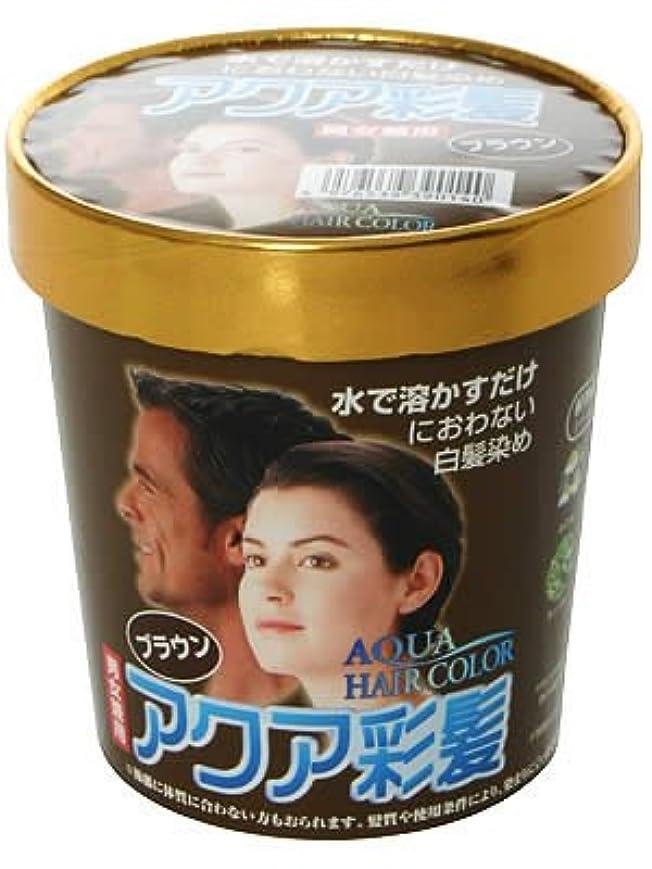 ワンダーどんよりした焼くアクア彩髪 男女兼用 ブラウン 15g*4袋