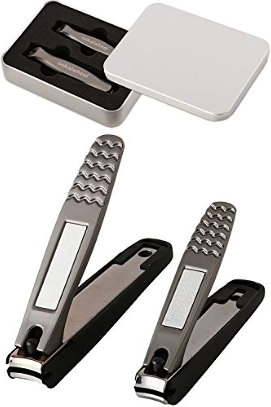 チャート薬用ハブ爪切り Sokaiwheel つめきり つめやすり 手足用2本組 爪 切り