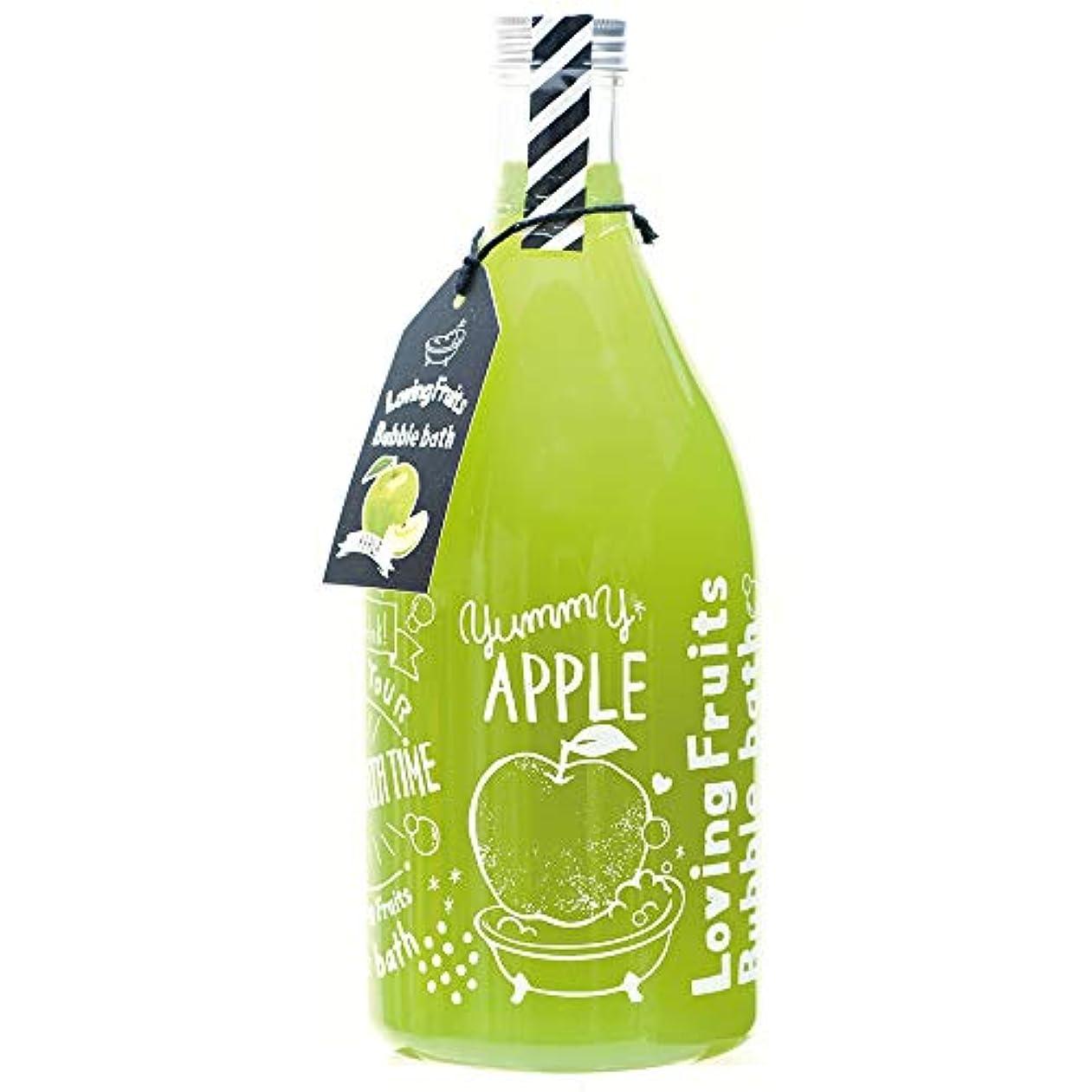 身元数値チラチラするノルコーポレーション バスジェル ラビングフルーツバブルバス OB-LFS-1-4 入浴剤 アップルの香り 750ml