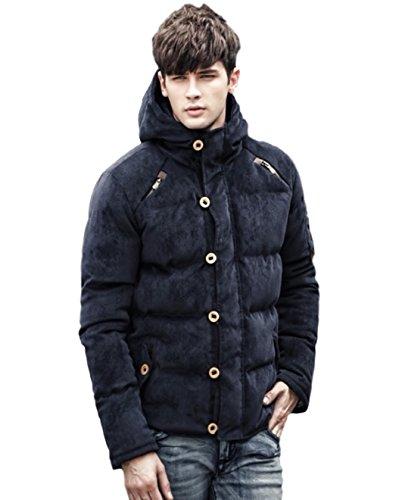 (マガザンレーブ) mgzan rev メンズ ファッション 冬 服 カジュアル ダウン ジャケット アウター フード 付き 防寒着 上着 3 色 M ~ XL DA-5 (09.ネイビー(XL))