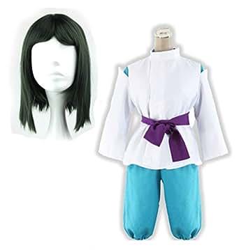(LuluLAB) 千と千尋の神隠し ハク 風 ウィッグ 衣装 セット コスプレ