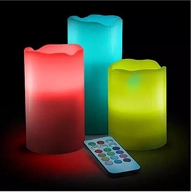 排除再びシエスタプレミアムスマート周囲光照らすLED Flameless Candle set3 non-flammableワックス電池式電動キャンドル – マルチ関数でリモート制御タイマー – カラー変更/ライトモードオプション – 香りつき