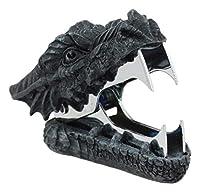 Ebros 中世ルネッサンス ファンタジーデコレーション 文房具 スマグ ファイヤードラゴン ヘッドステープルリムーバー 長さ3インチ デスクトップオフィスアクセサリー 必需品 ドラゴン 神秘的なビーストのファンのためのノベルティ 収集価値のある置物